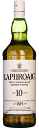 Laphroaig 10 years Single Malt 1ltr title=